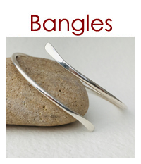 Silver Bangle by Ann Hume Jewellery